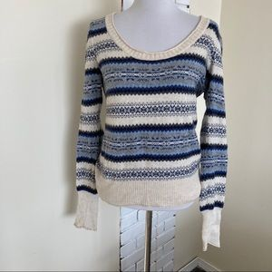 Aphorism Striped Sweater Fair Isle Scoop Read